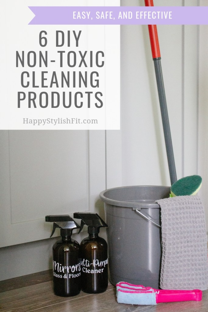 6 DIY non-toxic cleaning products all made with thieves household cleaner.