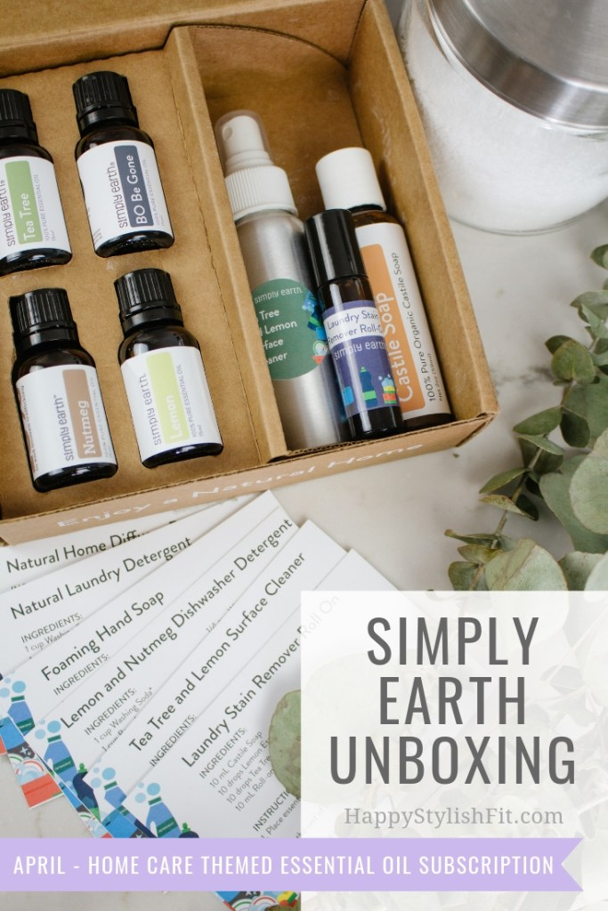 Unboxing Simply Earth essential oil subscription box.