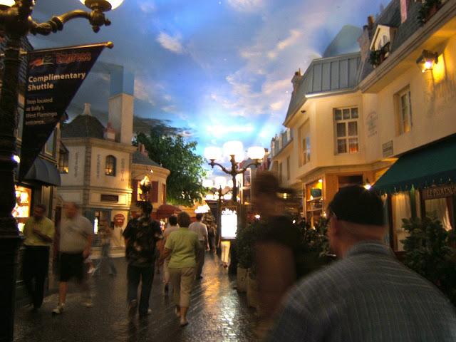 Walking through the Paris hotel