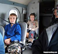 Kids on a float plane