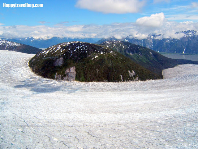 glacier view from a float plane in Alaska
