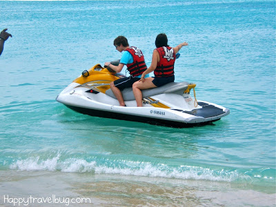 Jet skiing in St Maarten