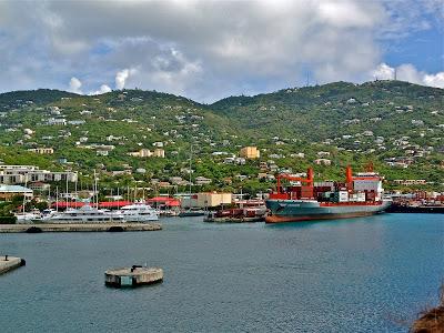 Cruise ship port at St. Thomas