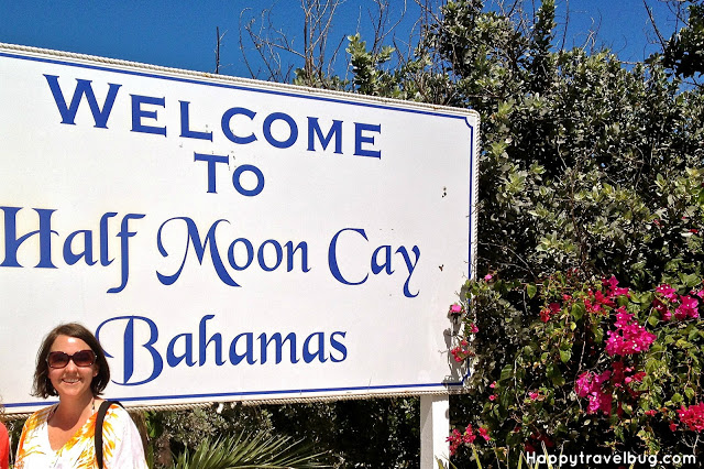 Half Moon Cay welcome sign