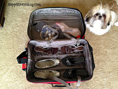 packing the suitcase