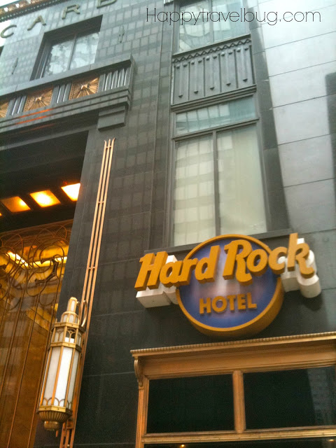 Exterior of the Hard Rock Hotel