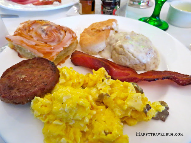 breakfast buffet food at the Greenbrier