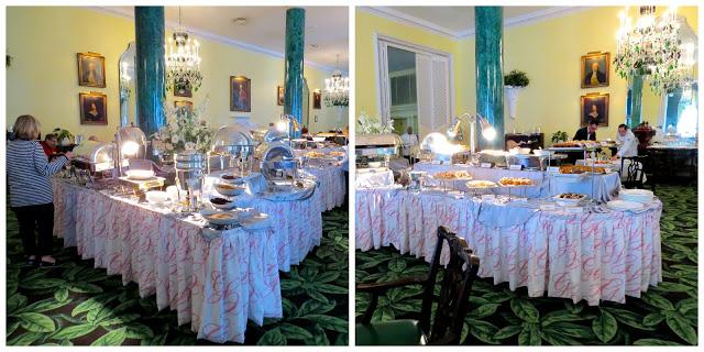 Breakfast buffet at the Greenbrier