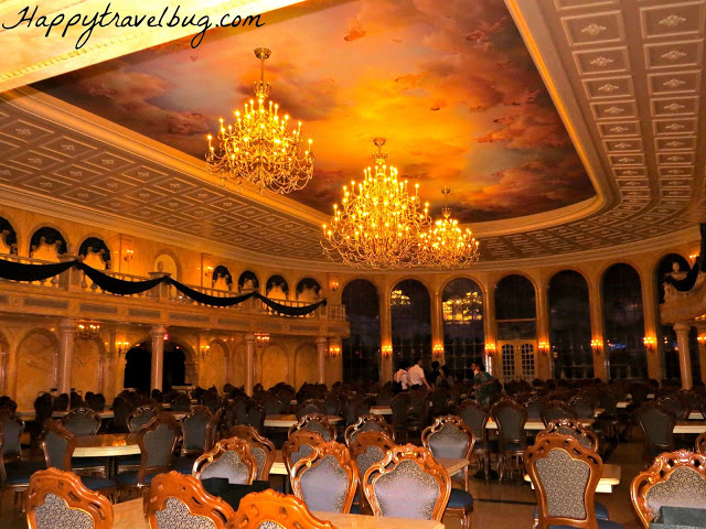 Grand ballroom dining area at Be Our Guest Restaurant