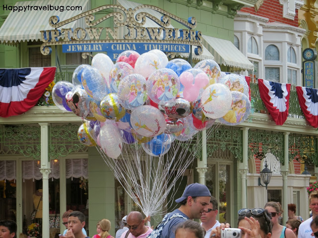 Disney Balloons on Main Street