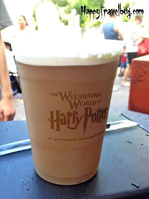 Frozen Butter Beer at Harry Potter World
