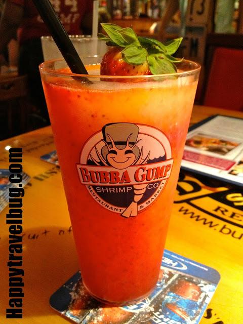 Bubba Gump's frozen drink