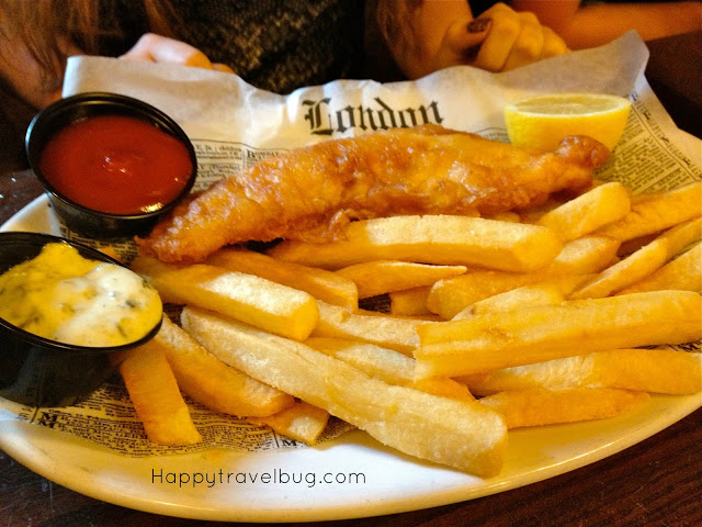 Fish and Chips at Rose and Crown in Epcot's England