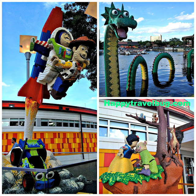 The Lego sculptures at Downtown Disney in Orlando