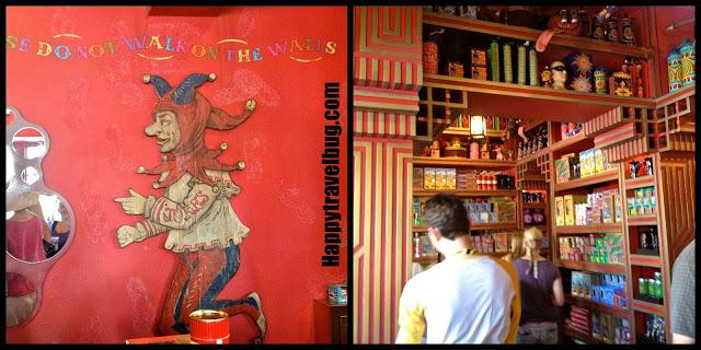 Inside Zonkos store in Harry Potter World