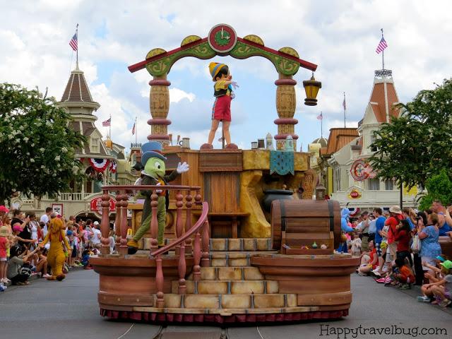 Pinocchio's float at Disney World