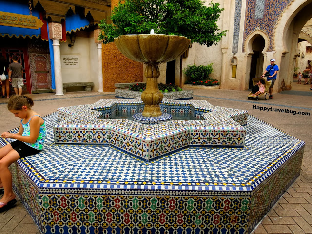 Moroccan fountain at Epcot