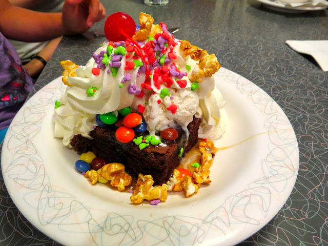 Dad's brownie Sundae from the 50's Prime Time cafe at Hollywood Studios