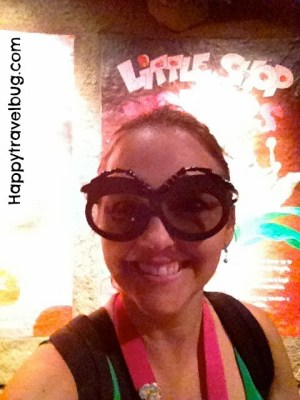 Me with bug glasses on...The {happy} Travel Bug