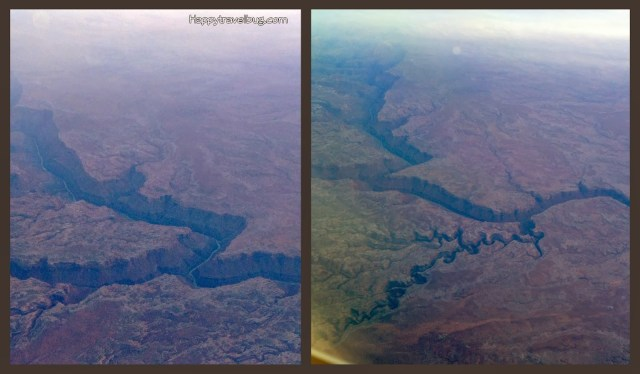 Very north tip of the Grand Canyon as seen from my airplane...Happytravelbug.com