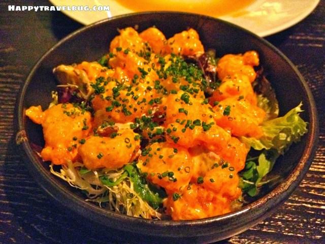 Creamy Spicy Rock Shrimp from Nobu in Las Vegas