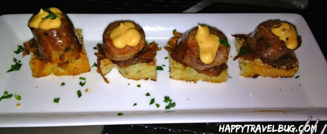 Spicy Italian Sausage with caramelized onions and chipotle aioli from Aurole