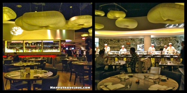 Nobu restaurant decor in Las Vegas