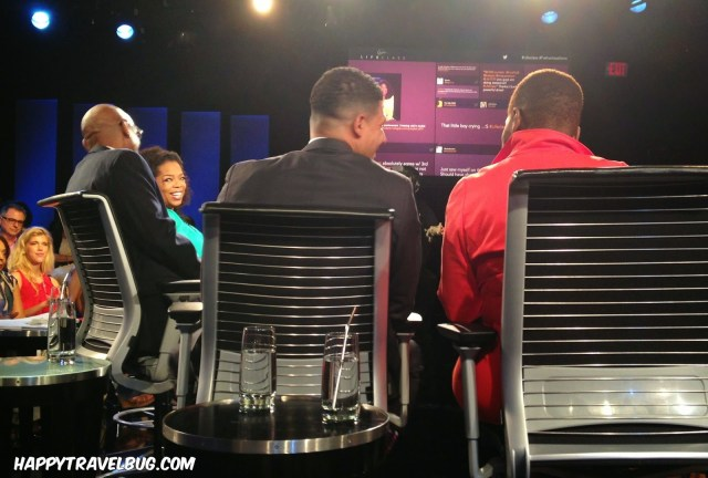 Oprah and her guest speakers for Lifeclass: Fatherless Sons