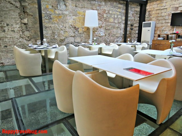 Nineteen restaurant at Olivia Plaza Hotel in Barcelona, Spain