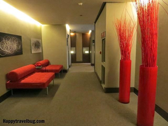 Sixth floor lobby at Olivia Plaza Hotel in Barcelona, Spain