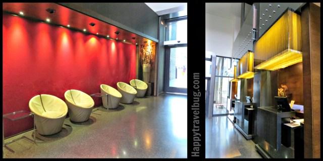 Lobby of the Olivia Plaza Hotel in Barcelona, Spain