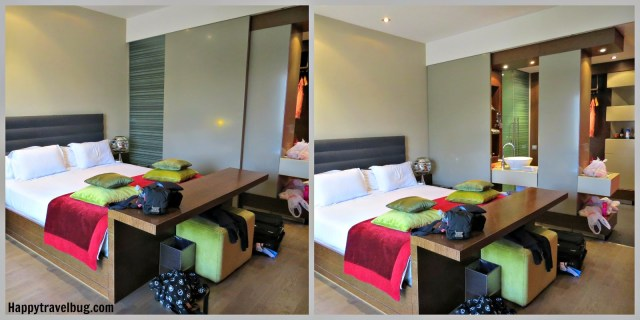 Our room at Olivia Plaza Hotel in Barcelona, Spain