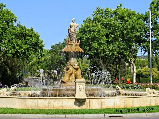 Fountain in Barcelona, Spain