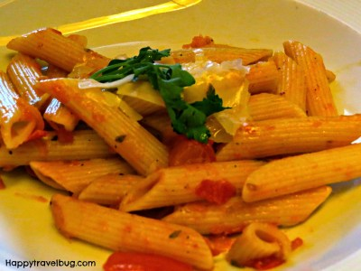 Penne Fresca from dinner on our Holland America Cruise
