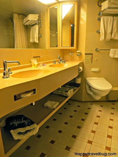 Bathroom in the Signature Suite on Holland America Cruise