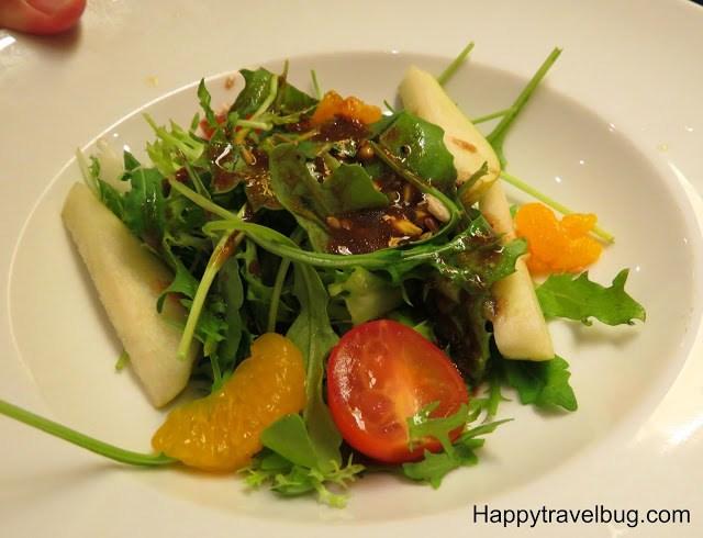 Arugula salad on Holland America Cruise