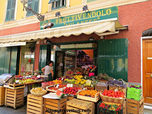 Italian market in Santa Margherita Ligure