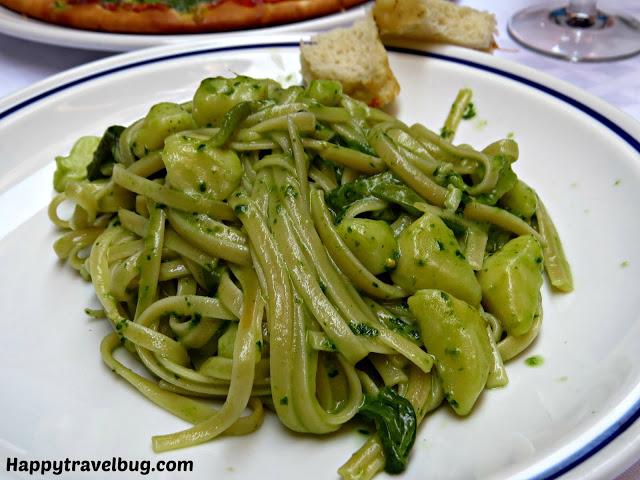 Pesto pasta in Italy