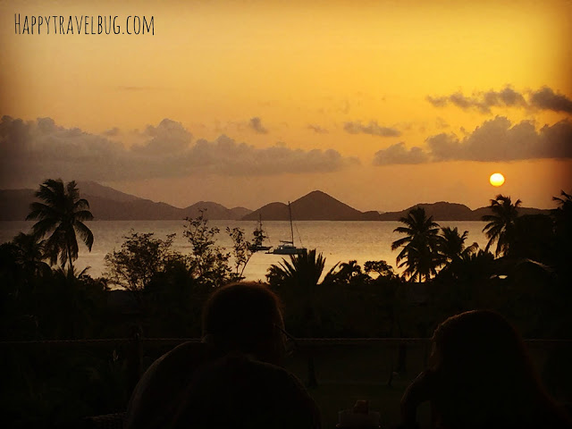 Dinner view from Zozo's in St. John, USVI