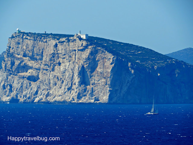 Large rocky cliffs near Alghero, Sardinia, Italy