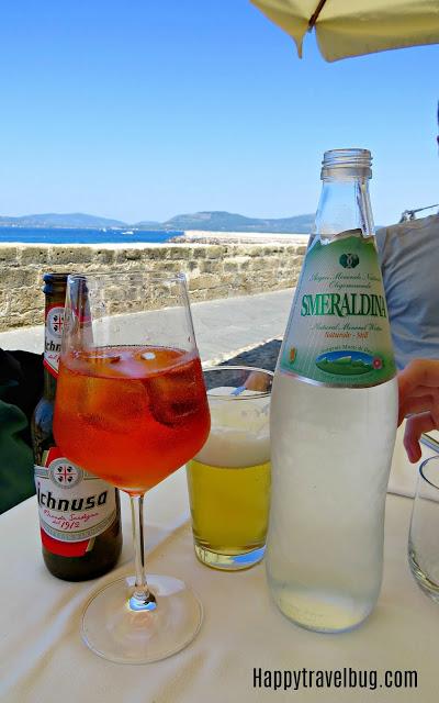 Drinks at Angedras in Alghero, Sardinia, Italy