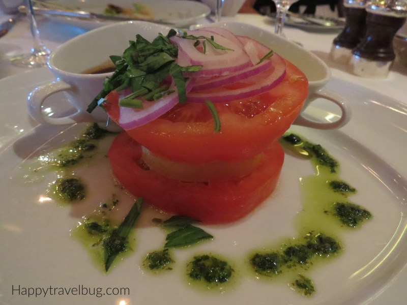 Caprese salad from Pinnacle Grill on Holland America Cruise line