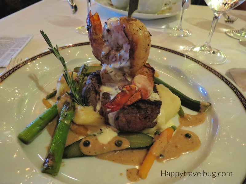 Surf and Turf Entree from Pinnacle Grill on Holland America Cruise Line