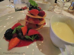 Dessert at the Pinnacle Grill on Holland America Cruise Line