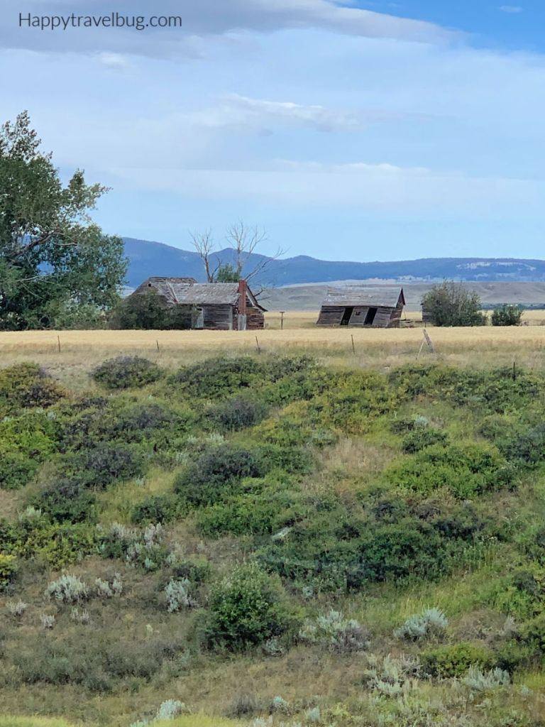 Old houses in Montana countryside