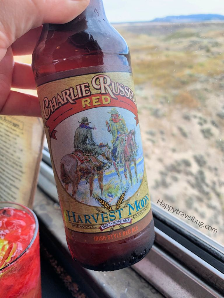 Beer with cowboys on the label