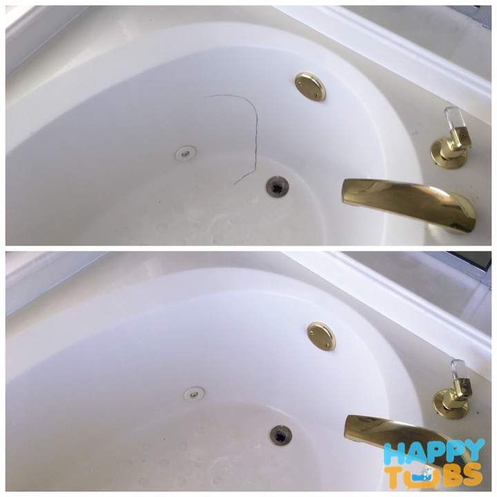 Bathtub Crack Repair - Happy Tubs