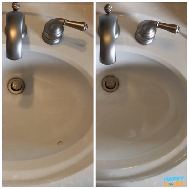 Cultured Marble Sink Repair in McKinney TX  Happy Tubs