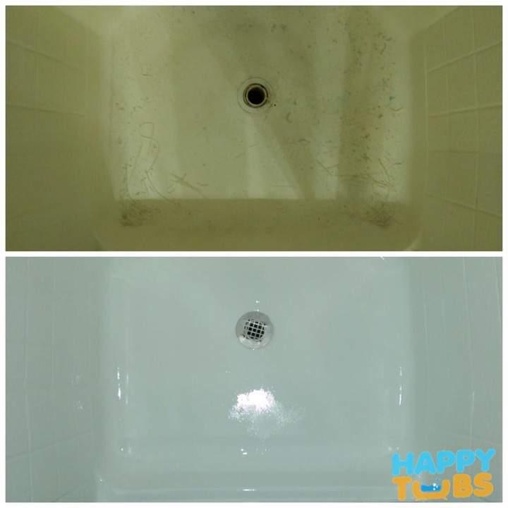 Shower Pan Refinishing in Plano TX  Happy Tubs Bathtub Repair