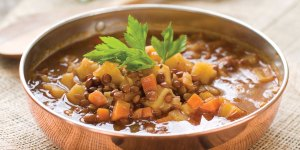 Harvest Lentil Soup in a Bowl